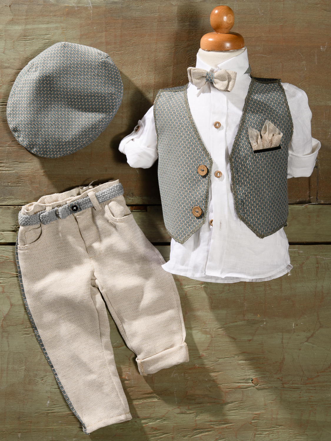 #grey #babysuit #christening #boy