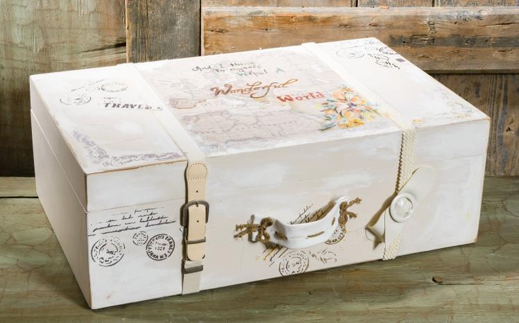 #vinatge #suitcase #accessory #christening Ένα vintage βαλιτσάκι- κουτί βάπτισης σε μπεζ τόνους. Διακοσμημένο και ζωγραφισμένο στο χέρι χρησιμοποιώντας διαφορετικές τεχνοτροπίες. Ένα αντικείμενο που μπορεί να στολίσει τον χώρο σας διαχρονικά. Για αναμνήσεις που σας ταξιδεύουν! Ένα πλήρες σετ βάφτισης με κουτί, λαμπάδα, κεριά, πετσέτες, λαδοσέτ, λαδόπανα, 50 μαρτυρικά με το κουτάκι τους και βιβλίο ευχών ξεκινάει από 420 Ε