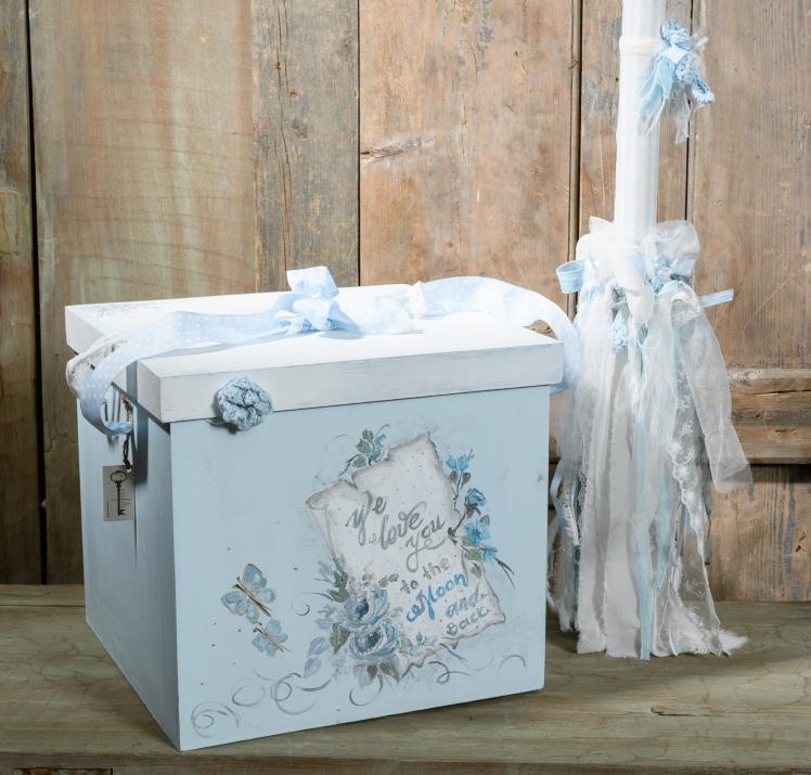 #βαφτιστικά #christening #λαμπάδα Ένα πλήρες σετ βάπτισης σε σιέλ τόνους με ονειρική διάθεση. Περιλαμβάνει: Κουτί βάφτισης διακοσμημένο και ζωγραφισμένο στο χέρι Λαμπάδα διακοσμημένη με δαντέλα και τούλι Πετσέτα κεντημένη στο χέρι Κούκλα χειροποίητη ασορτί Για τις πιο παραμυθένιες βαφτίσεις. Ένα πλήρες σετ βάφτισης με κουτί, λαμπάδα, κεριά, πετσέτες, λαδοσέτ, λαδόπανα, 50 μαρτυρικά με το κουτάκι τους και βιβλίο ευχών ξεκινάει από 420 Ε