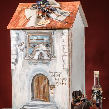 Ένα χαριτωμένο σετ βάπτισης με θέμα τα σκυλάκια. Περιλαμβάνει: Κουτί βάφτισης (παιχνιδόκουτο) σπιτάκι ζωγραφισμένο στο χέρι Λαδοσέτ Μαρτυρικά και μπομπονιέρες Για τους λάτρεις των τετράποδων ! Ένα πλήρες σετ βάφτισης με κουτί, λαμπάδα, κεριά, πετσέτες, λαδοσέτ, λαδόπανα και 50 μαρτυρικά σε κουτί ξεκινάει από 390 Ε