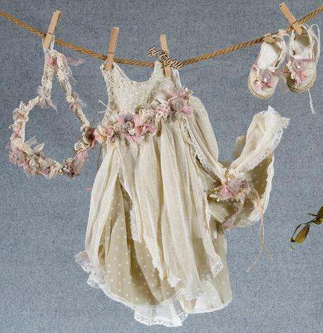 φόρεμα βαφτιστικό boho λουλούδια